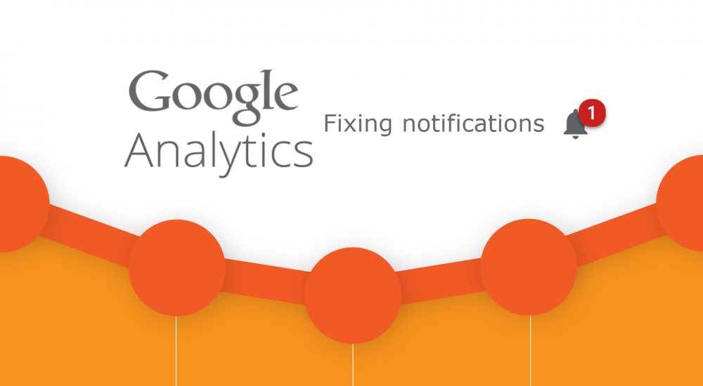 Fixing Google analytics notifications